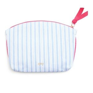 Ipsy pinstriped bag